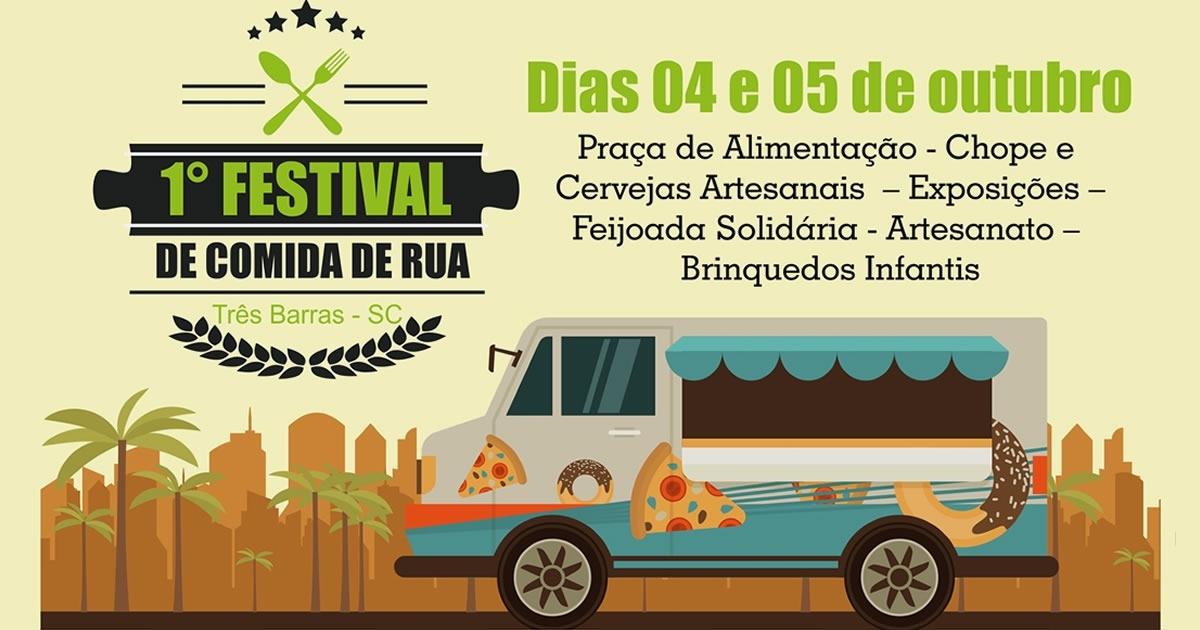 1º Festival de Comida de Rua promete agitar Três Barras neste final de semana