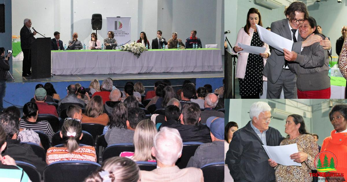 186 famílias recebem títulos de propriedade pelo programa Lar Legal em Três Barras