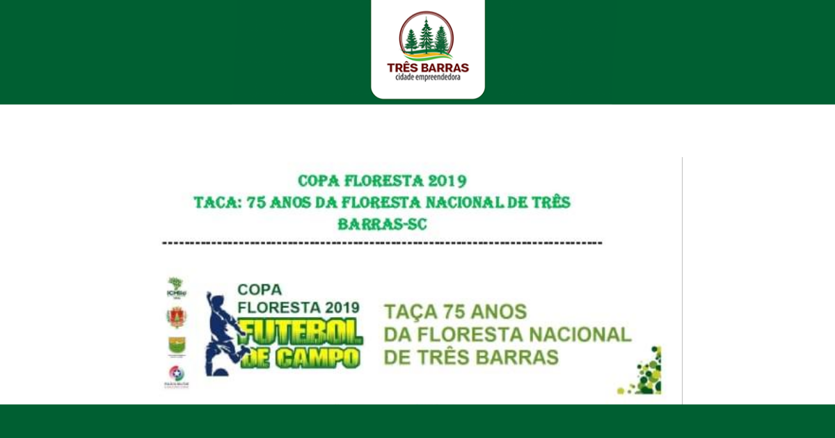 3ª Copa Floresta de Futebol começa no domingo com 11 equipes na disputa