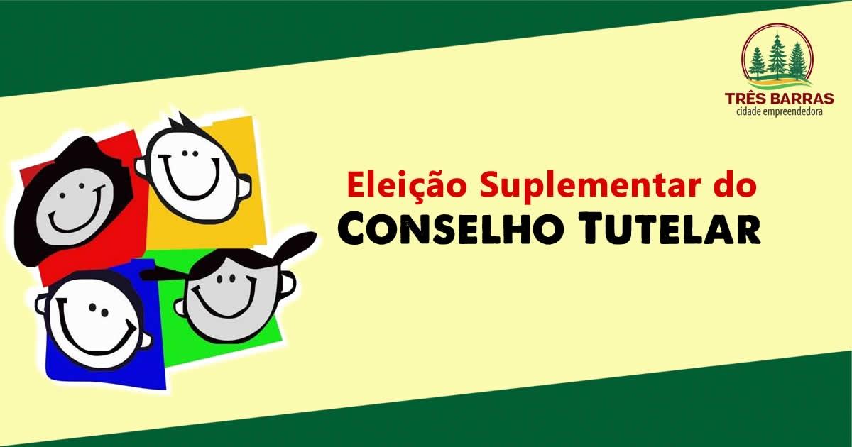 Abertas as inscrições para a eleição suplementar do Conselho Tutelar de Três Barras; Confira o edital