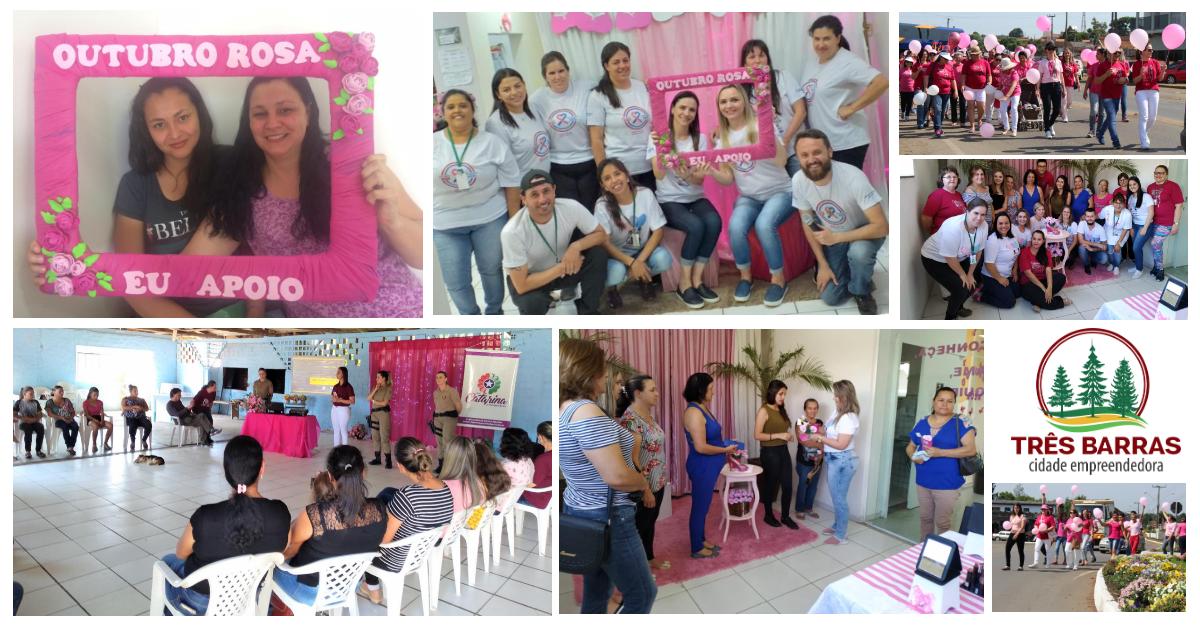 Ações do Outubro Rosa levaram prevenção e orientações às mulheres por todo o Município
