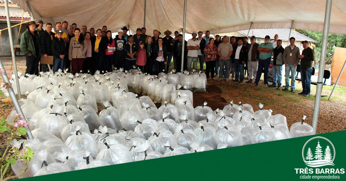 Agricultura de Três Barras e Epagri fazem a entrega de 30,4 mil alevinos a produtores rurais