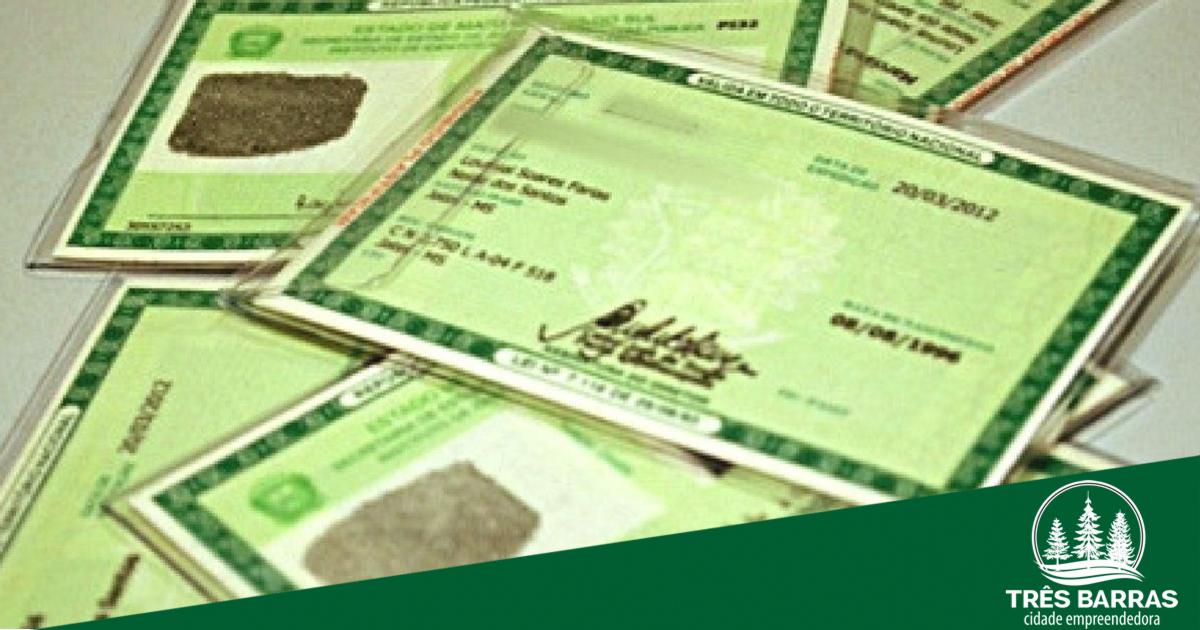 Atenção: nova remessa de carteiras de identidade chega à cidade