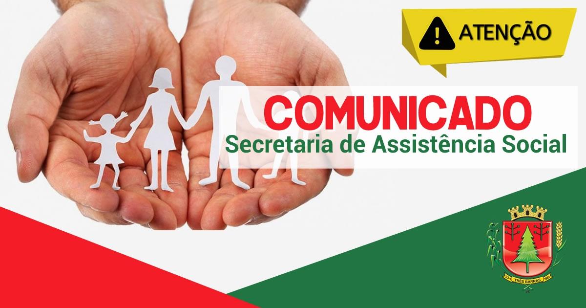 Atendimentos na Assistência Social e Cras serão feitos por telefone e whatsapp