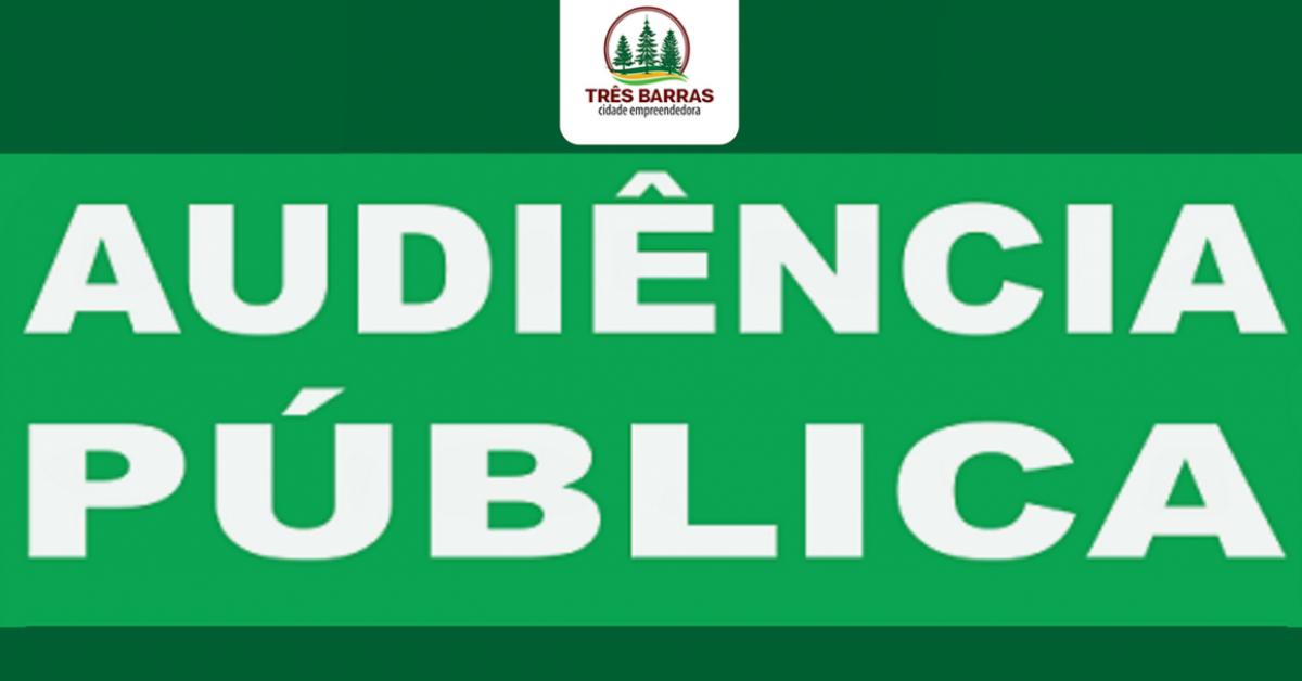 Audiência pública: Três Barras discutirá hoje à noite LDO de 2019