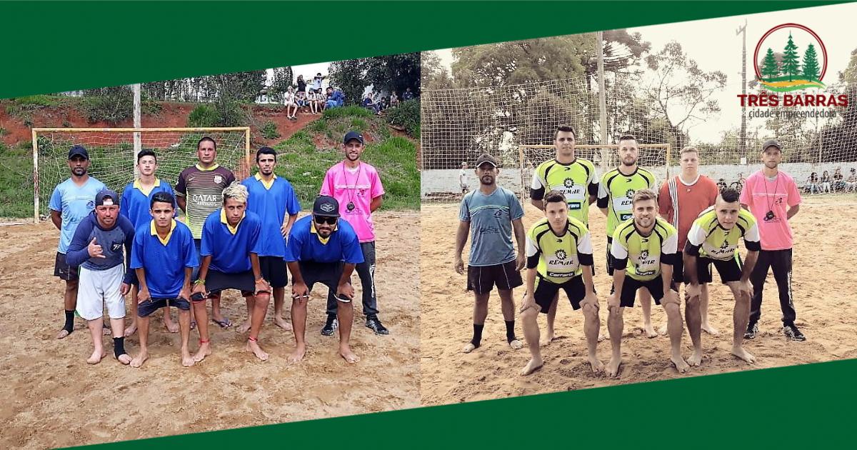 Baixada B e Dexaqueuxuto fazem a final do Futebol de Areia em Três Barras