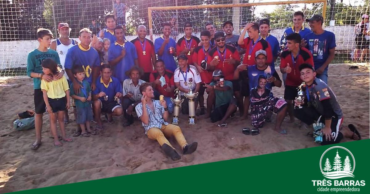 Baixada B goleia por 6 a 1 e conquista o título do Campeonato de Futebol de Areia