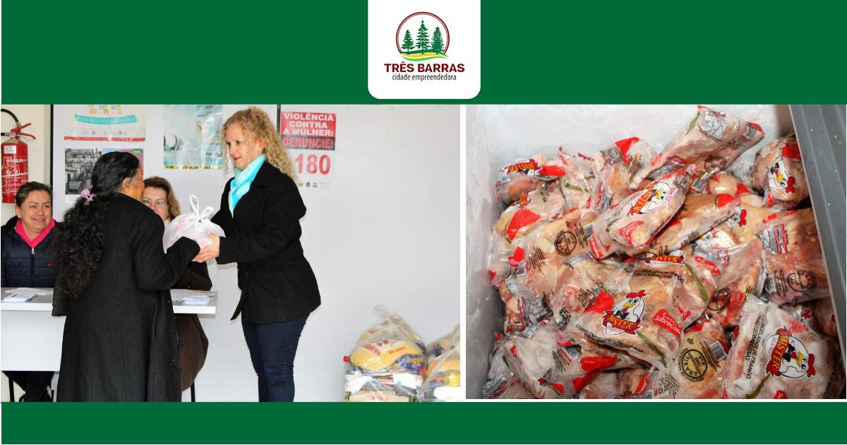 Beneficiários passam a receber quatro quilos de carne de frango nos sacolões