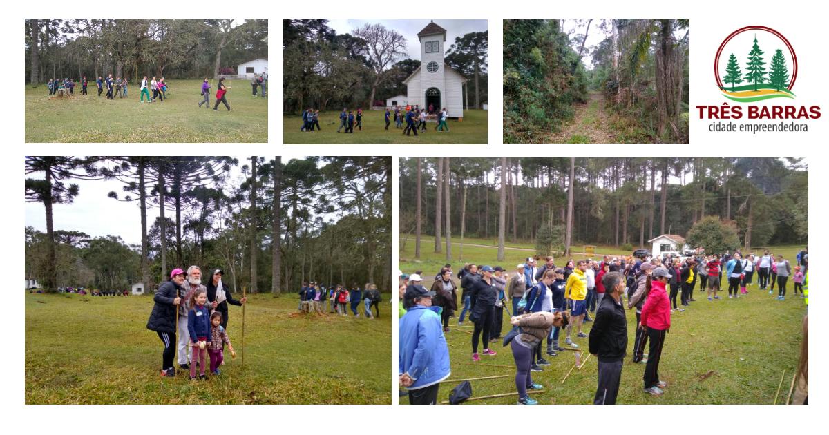 Caminhada ecológica reúne mais de 280 participantes em Três Barras