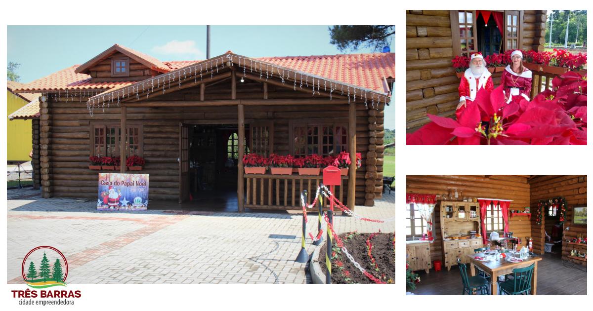 Casinha do Papai Noel está aberta à visitação em Três Barras