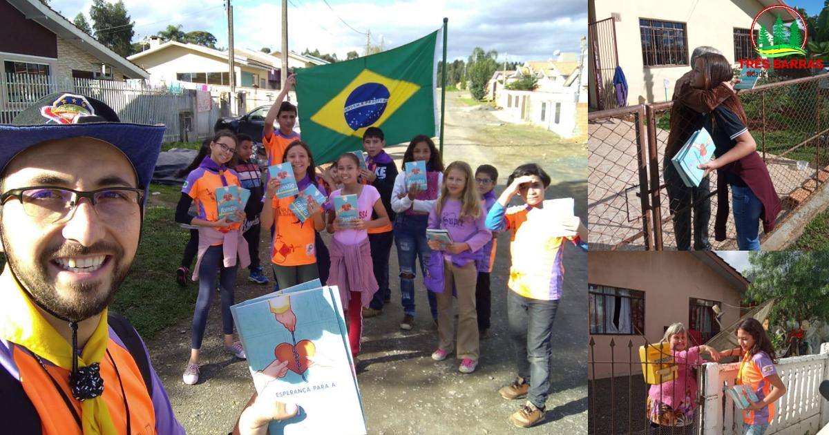 Clube de Desbravadores Vanguarda distribui livros a moradores do Distrito de São Cristóvão