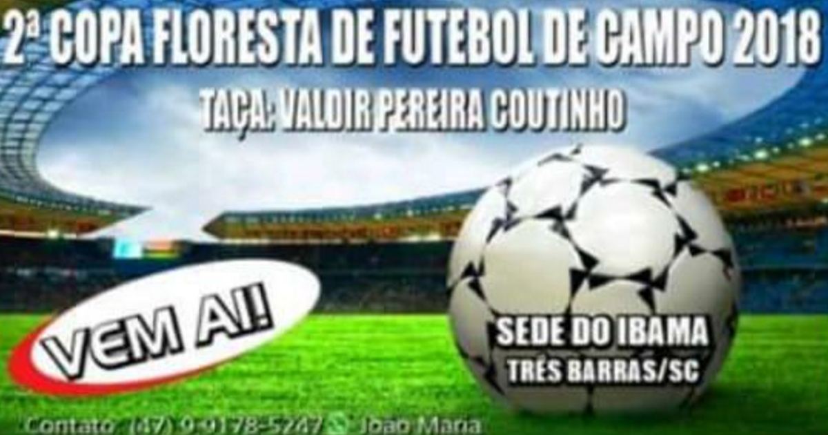Definida a tabela da 2ª Copa Floresta de Futebol