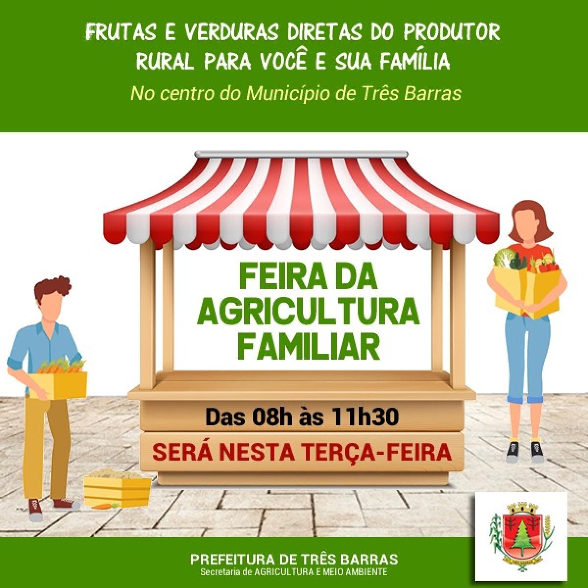 DEVIDO FERIADO, FEIRINHA DA AGRICULTURA FAMILIAR DE TRÊS BARRAS É ANTECIPADA PARA ESTA TERÇA-FEIRA