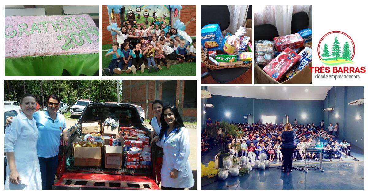 Dia de Ação de Graças é marcado por atividades em escolas da rede municipal de ensino
