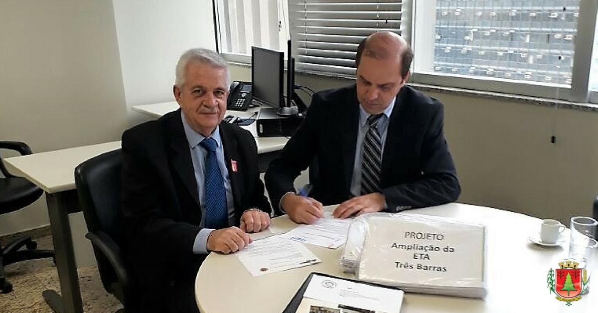 Diretor do Samasa protocola pedido de recursos para ampliação da ETA