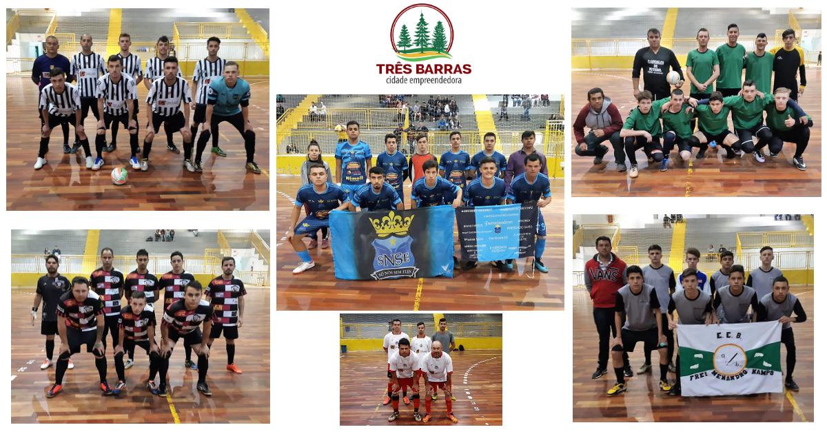 Duas goleadas e um empate marcam jogos da terceira rodada do Futsal Livre Masculino
