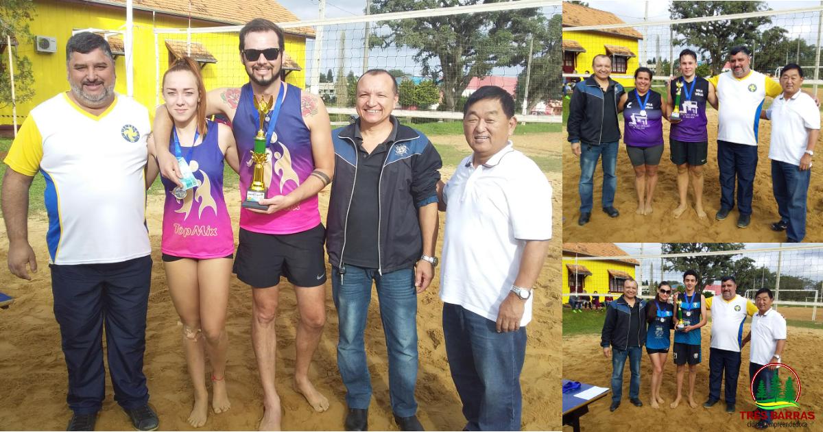 Duplas e atletas destaques são premiados em Torneio de Vôlei de Areia em Três Barras