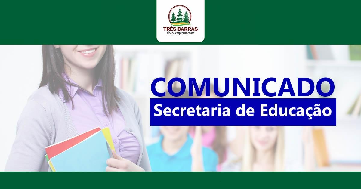Educação de Três Barras informa o calendário de férias na rede municipal de ensino