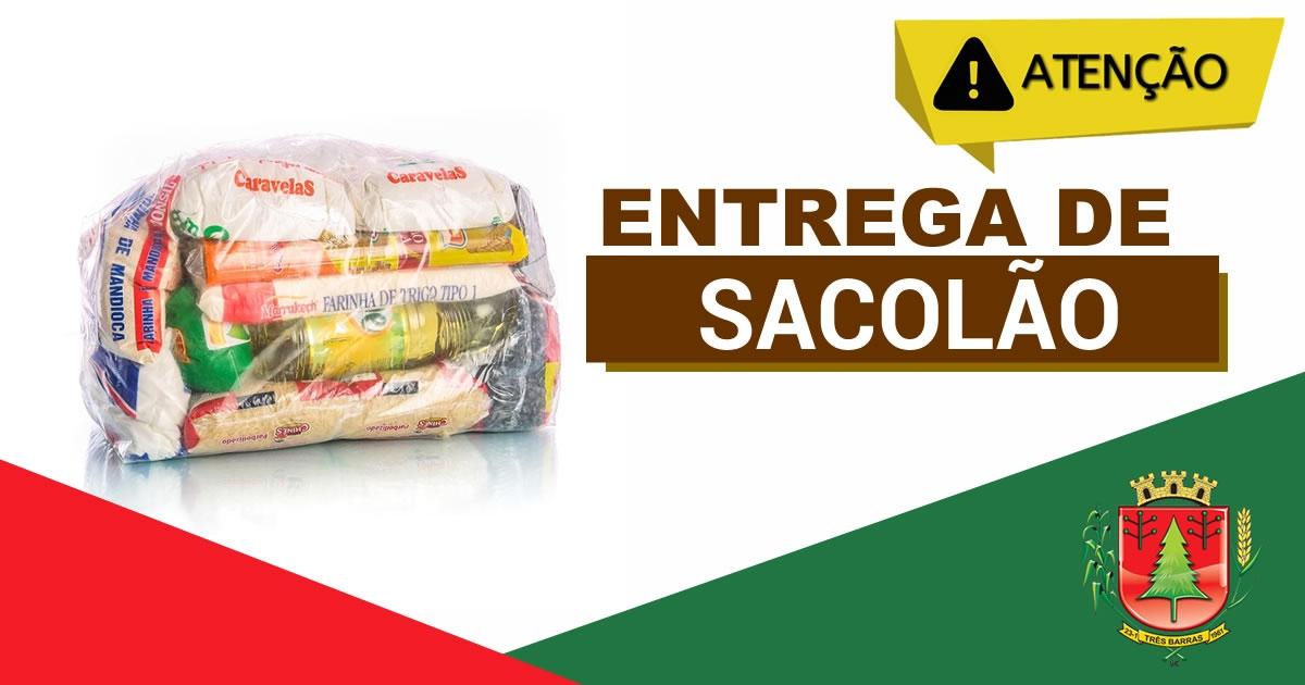 Entrega das cestas básicas do programa sacolão será nesta quarta e quinta-feira