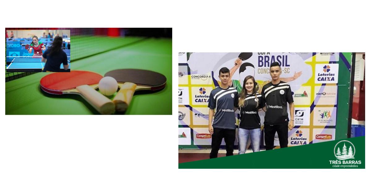Atletas tresbarrenses participarão do Campeonato Brasileiro  de Clubes e Seleções de Tênis de Mesa