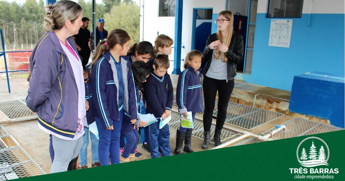 Estudantes da Campininha participam de visita guiada à ETA do Samasa