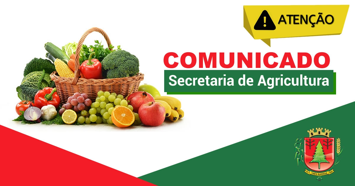 FEIRA DA AGRICULTURA FAMILIAR DE TRÊS BARRAS ACONTECE NESTA QUARTA-FEIRA, NO CENTRO DA CIDADE