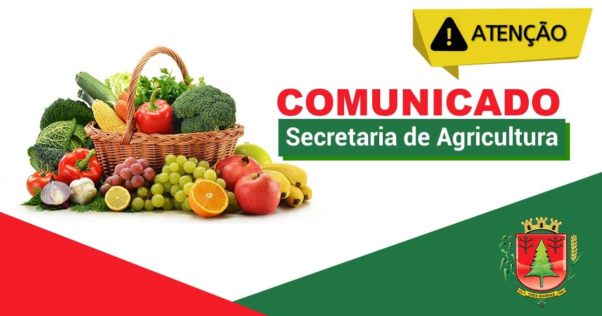 FEIRA DA AGRICULTURA FAMILIAR DE TRÊS BARRAS ACONTECE NESTA QUARTA-FEIRA, NO CENTRO DO MUNICÍPIO