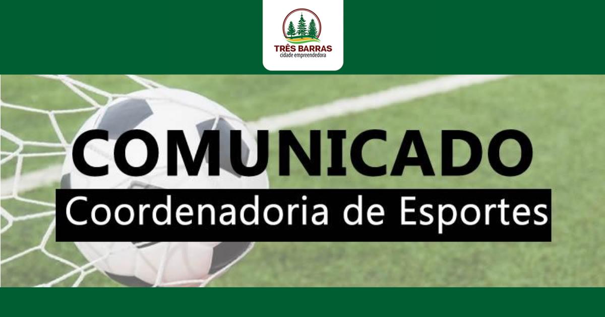 Finaliza hoje o prazo de inscrições para três categorias do Campeonato de Futsal em Três Barras