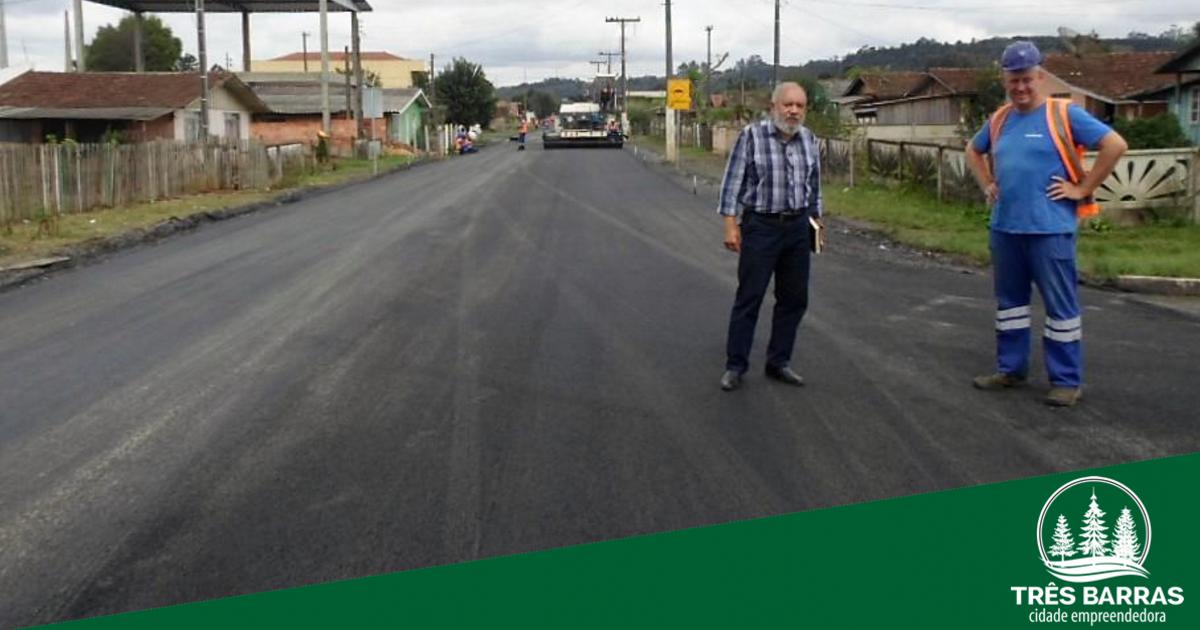 Finalizado o asfaltamento da Rua 10 de Julho, no distrito de São Cristóvão