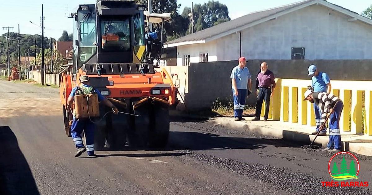 Finalizado o asfaltamento das travessias sobre o Valetão no distrito de São Cristóvão