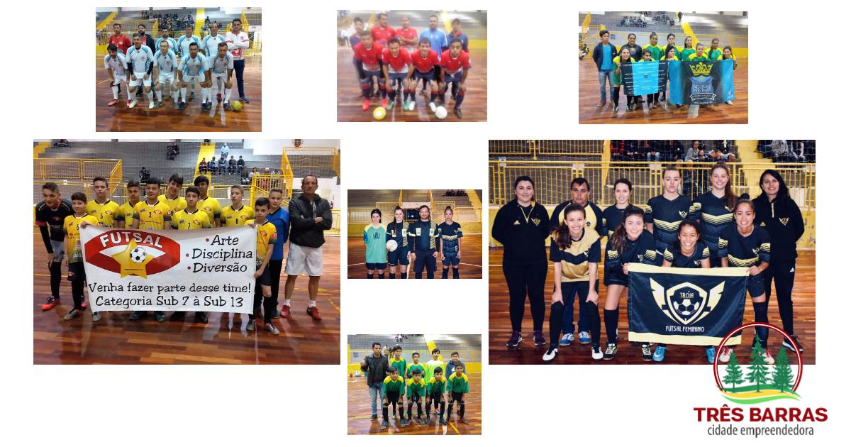 Futsal: 13 gols marcados na rodada inaugural nas categorias Infantil, Feminino e Veteranos