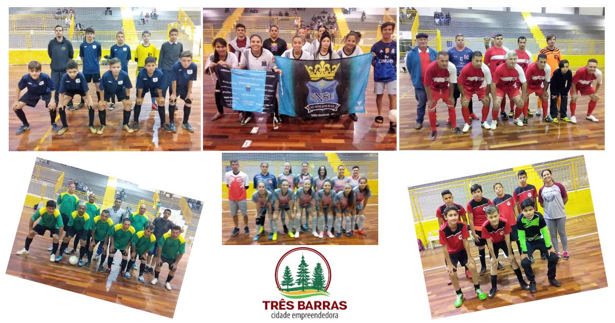 Futsal em Três Barras: 12 gols marcados pela segunda rodada das categorias Infantil, Feminino e Veteranos