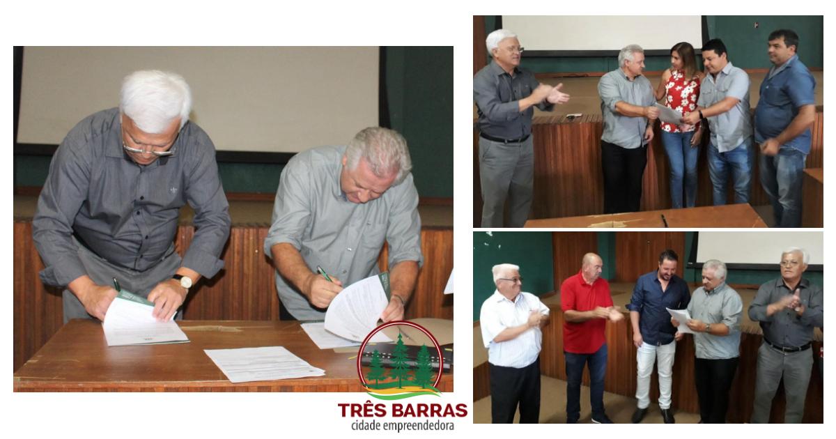 Governo de Três Barras autoriza início das obras de revitalização da Avenida Rigesa e de asfaltamento de 12 ruas