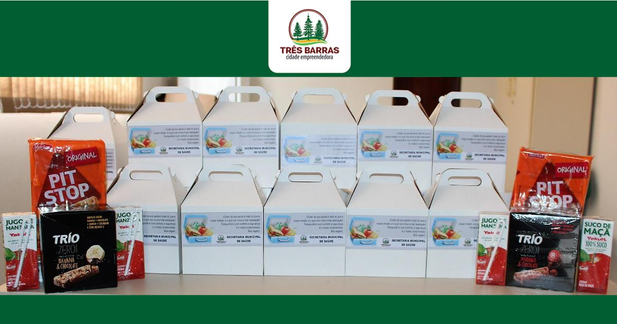Governo de Três Barras oferece lanche para pacientes que realizam tratamento fora do domicílio