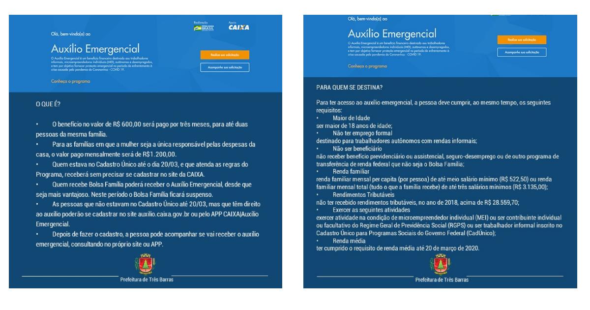 Governo Federal libera inscrição para o auxílio emergencial de R$ 600