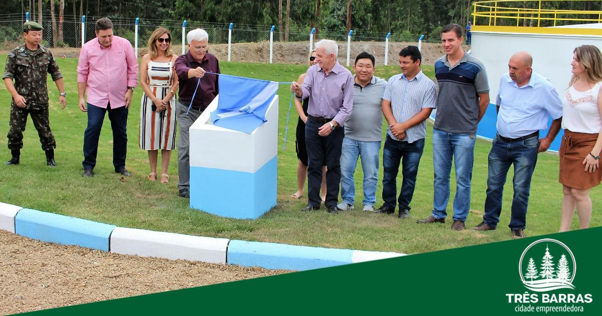 Inaugurado o novo reservatório de água do Samasa em Três Barras