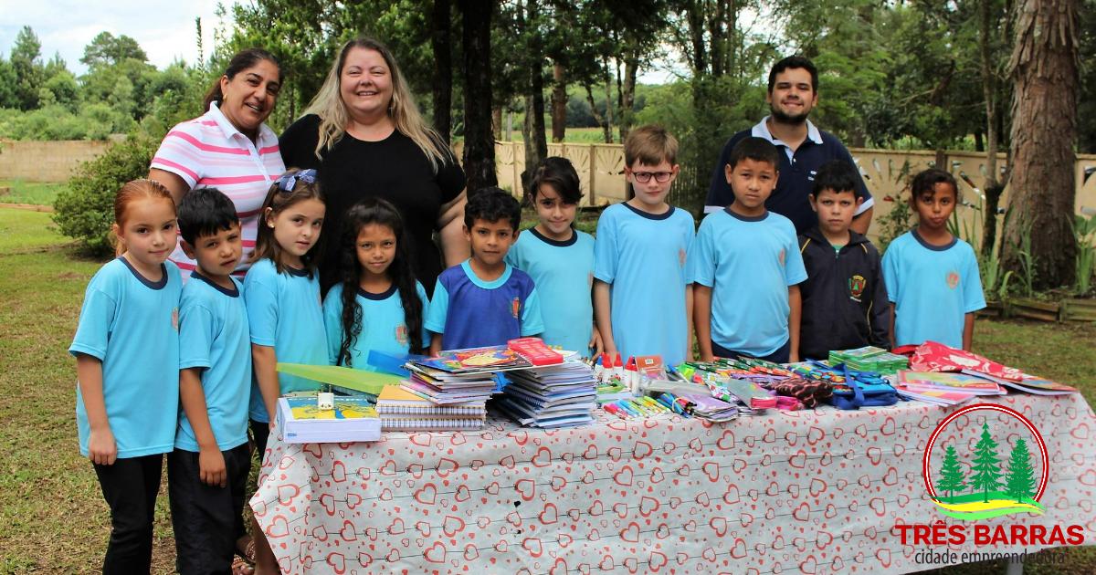 Iniciativa do CREA JR-SC garante 676 itens escolares a alunos do interior de Três Barras
