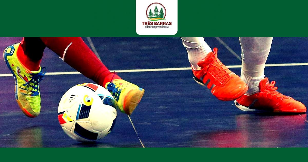 Inscrições abertas para o Campeonato Interno de Futsal da Prefeitura de Três Barras