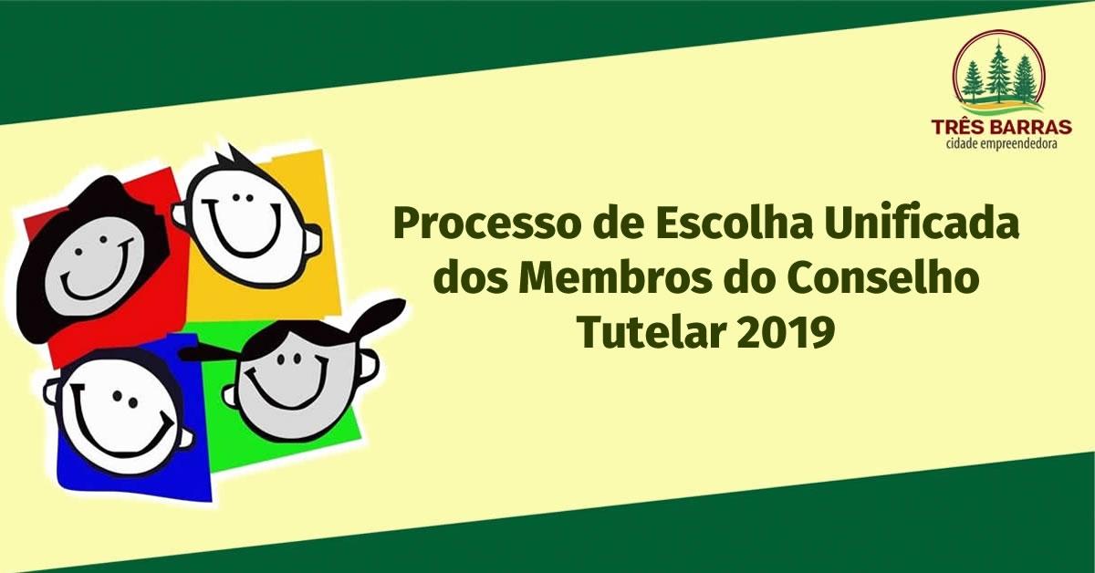 Inscrições para a eleição do Conselho Tutelar de Três Barras seguem até sexta-feira