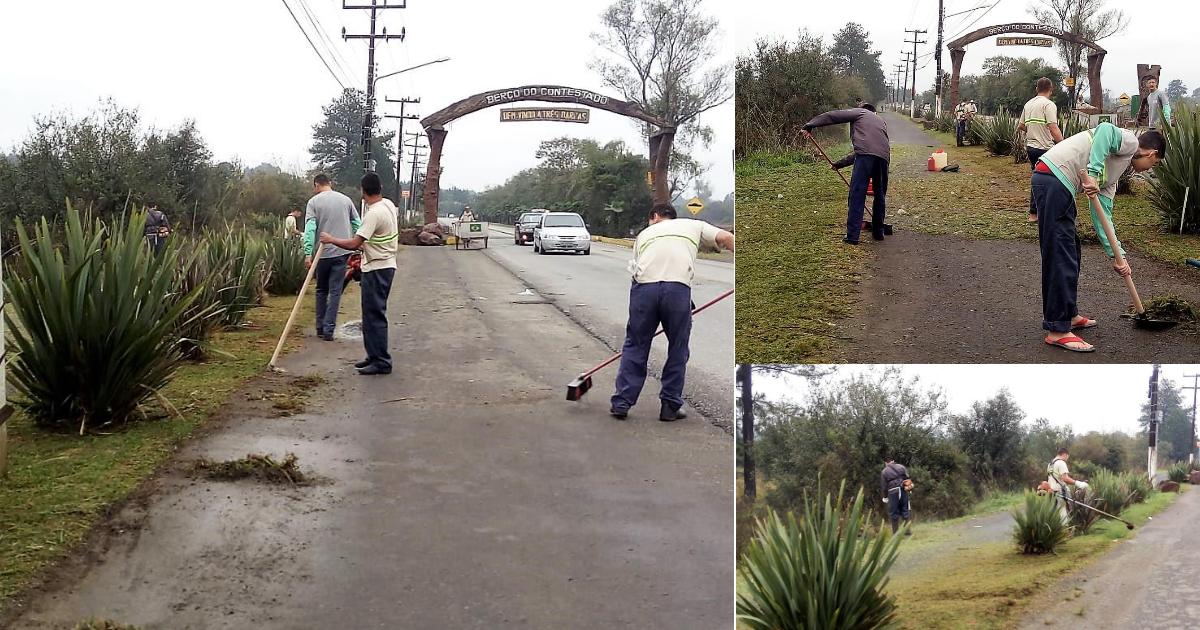 Intendência Distrital realiza serviços de limpeza em vias pública do São Cristóvão