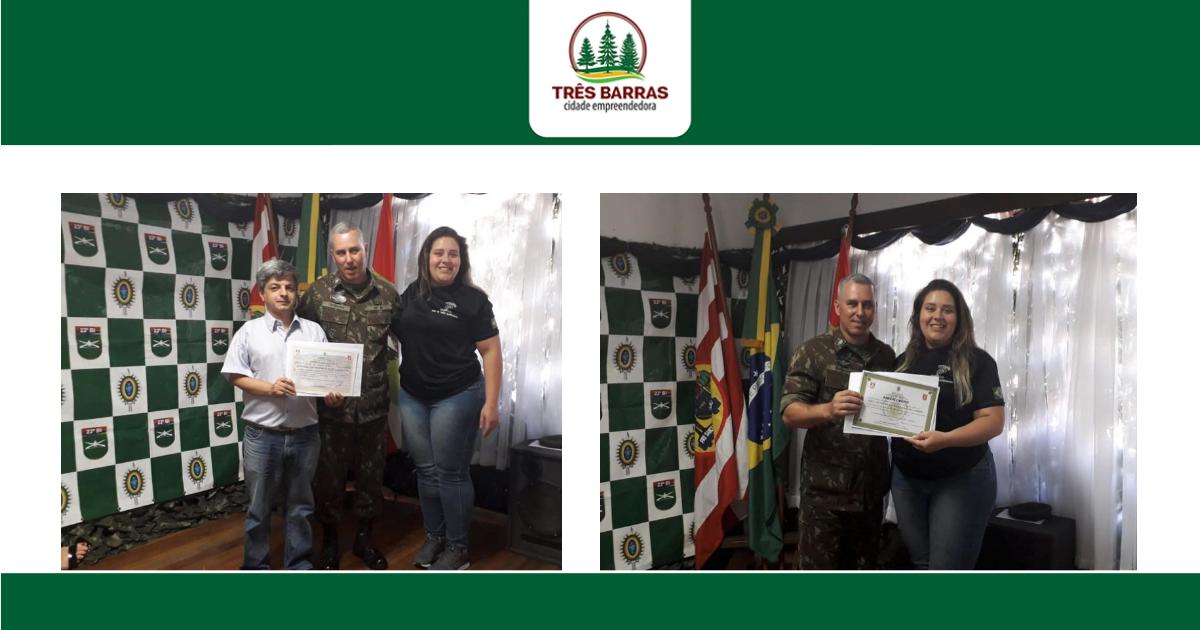 JSM de Três Barras recebe certificado por realização de cerimonial centralizado de dispensa militar