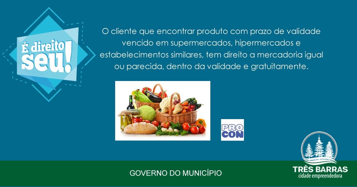 Lei catarinense garante mercadoria grátis para consumidor que achar produto vencido