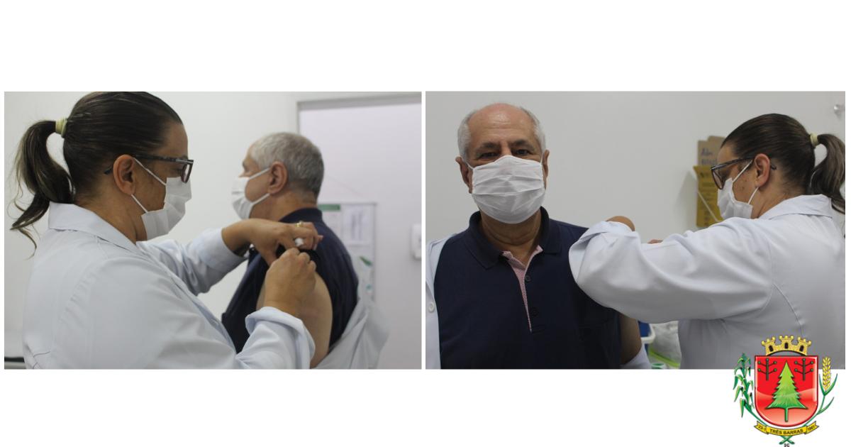 Médico é o primeiro vacinado contra a covid-19 em Três Barras