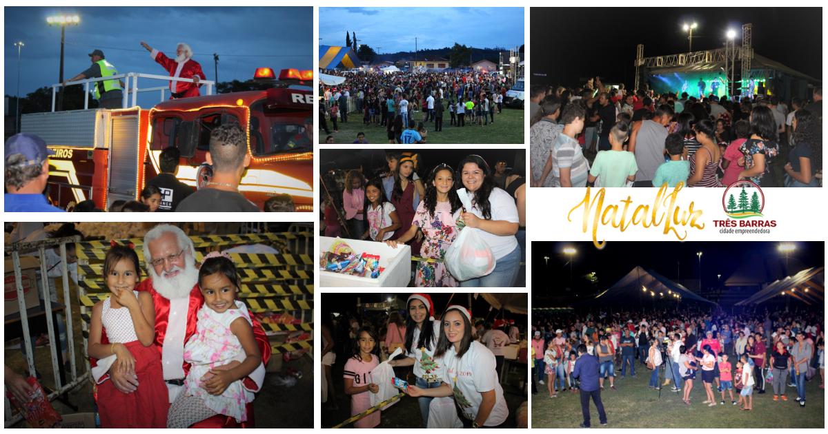 Música, queima de fogos e presentes para mais de 2,8 mil crianças do São Cristóvão encerram o Natal Luz