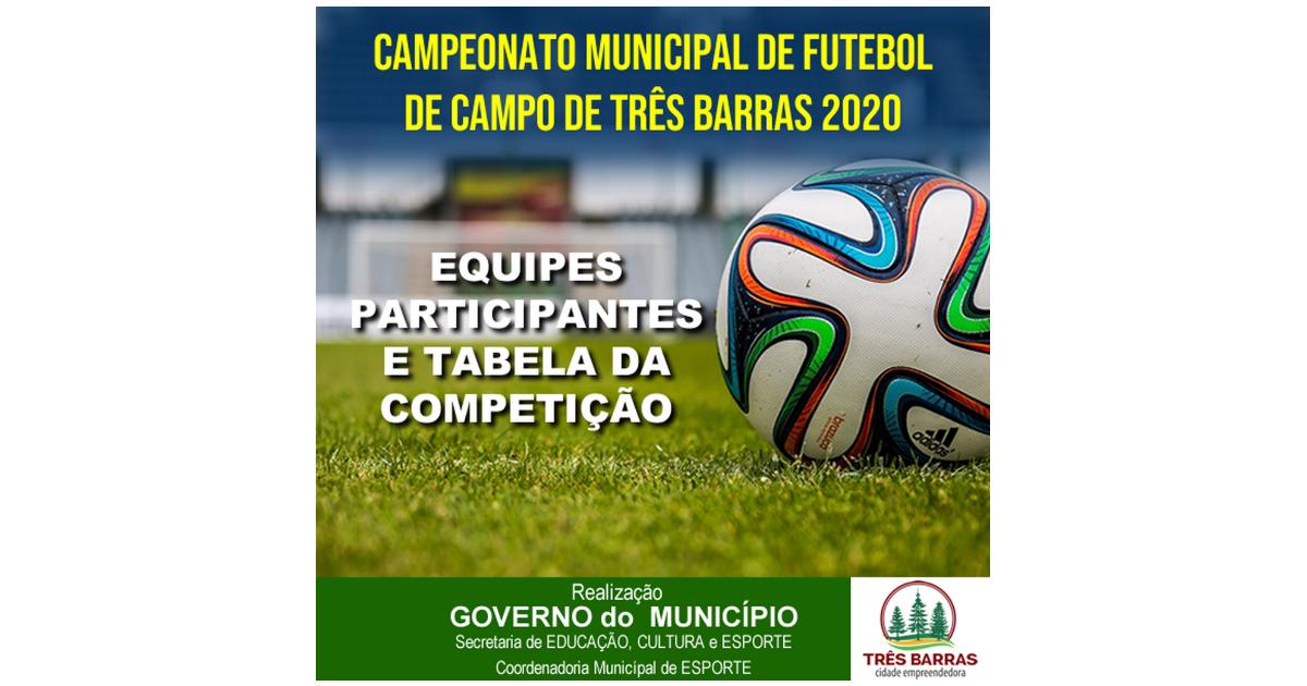 Nove equipes disputarão o Campeonato de Futebol de Campo de Três Barras; Confira a tabela