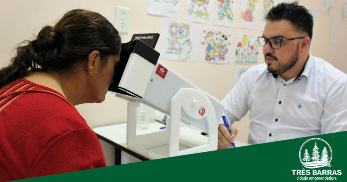 Novo mutirão de consultas e exames oftalmológicos vai atender 100 pacientes de Três Barras