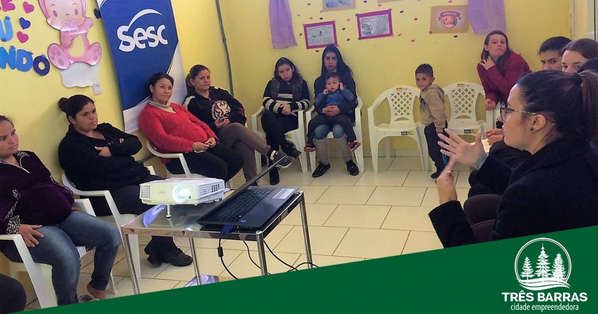 """Palestra sobre """"Amamentação"""" marca atividade com gestantes no distrito de São Cristóvão"""
