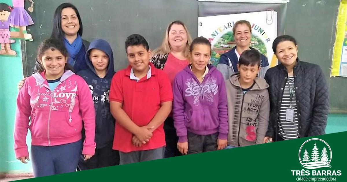 Parceria entre o Governo de Três Barras e Cidasc forma alunos pelo Projeto Sanitarista Júnior