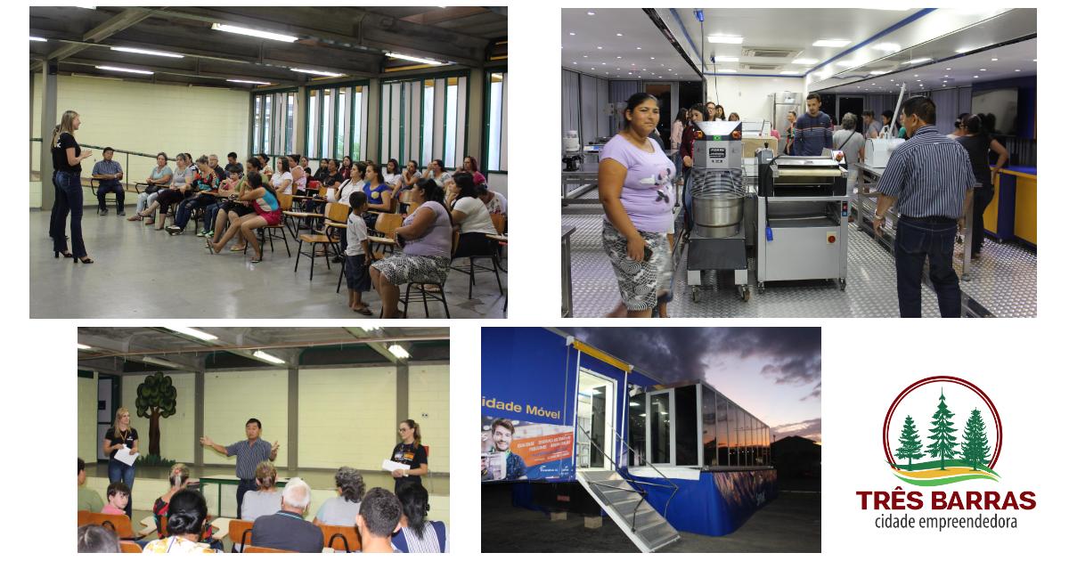Parceria entre Prefeitura de Três Barras e Senac garante cursos profissionalizantes