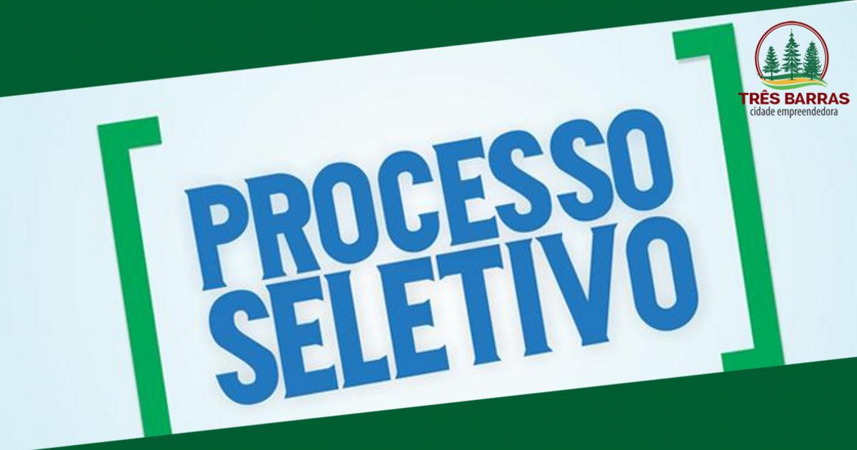 Prefeitura de Três Barras abre novo processo seletivo para a contratação temporária de Monitores